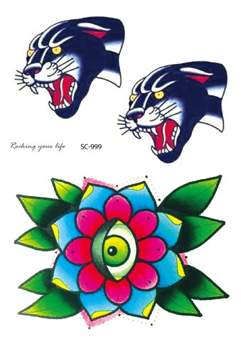 Flower and two panthers