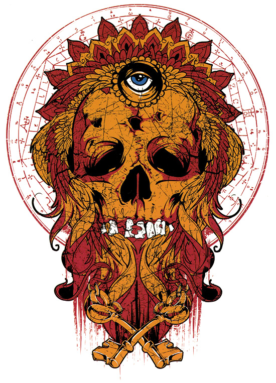 ALL SEEING SKULL